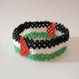 Palestine wristband, beaded