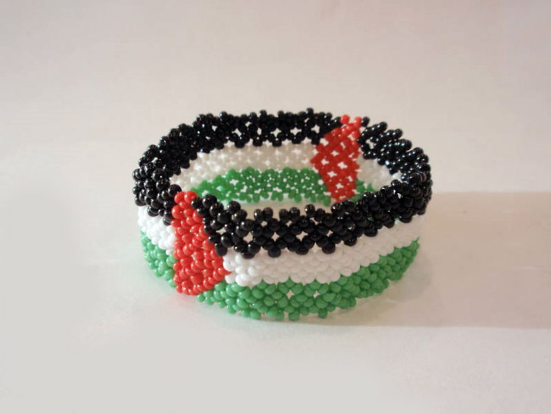 Palestine wristband, beaded
