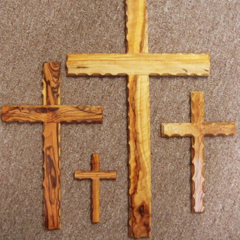 Olivewood crosses from Bethlehem
