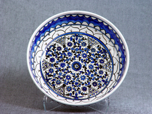 Blue and white flowers deep bowl #2