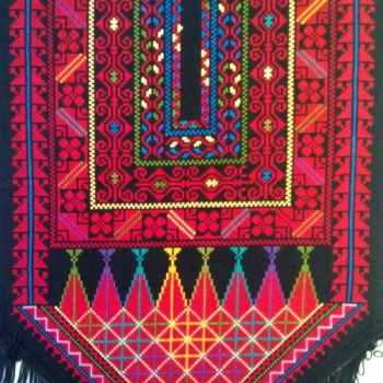 Hand-embroidered wall hanging from Palestine