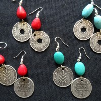 Palestinian coin earrings (replica)