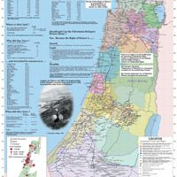 Palestine before the Nakba, map by Salman Abu Sitta