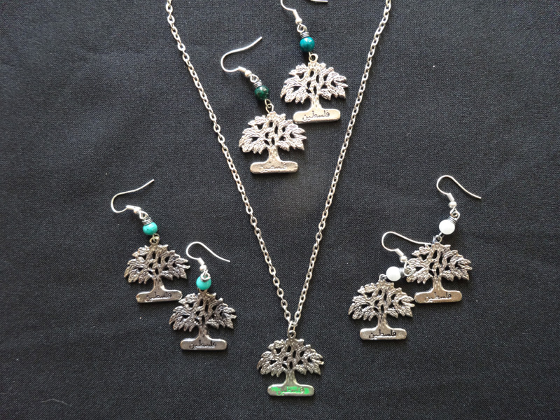 Olive Tree Earrings and Necklace – Palestine Online Store