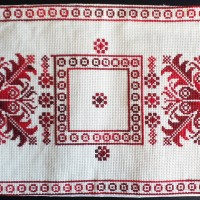 Palestinian embroidery table runner
