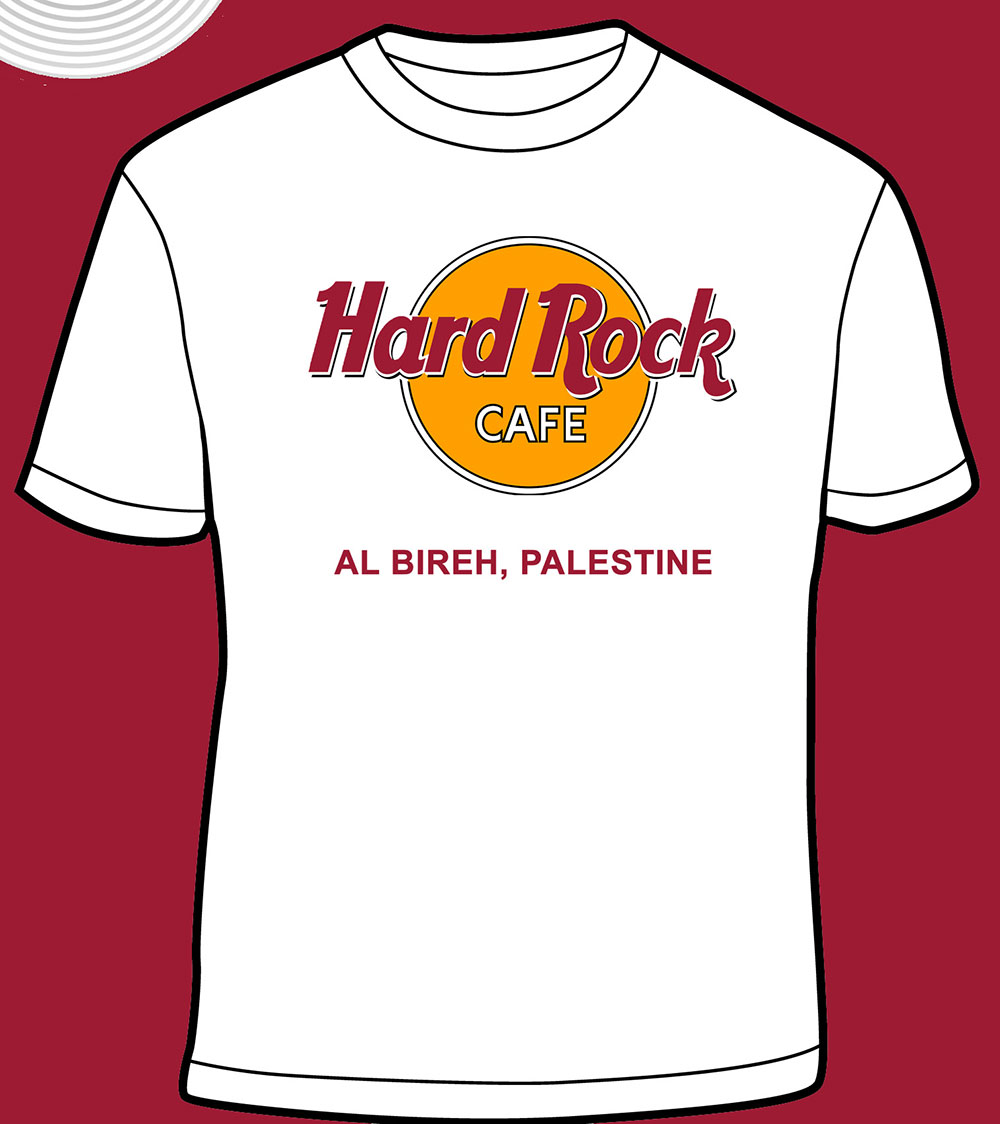 hard rock cafe al bireh t shirt palestine online store. Black Bedroom Furniture Sets. Home Design Ideas