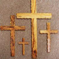 Olivewood crosses from Bethlehem